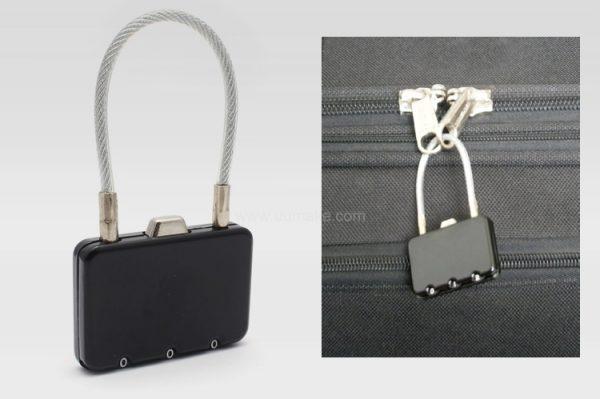 方形金屬密碼鎖,行李瑣,旅行用品