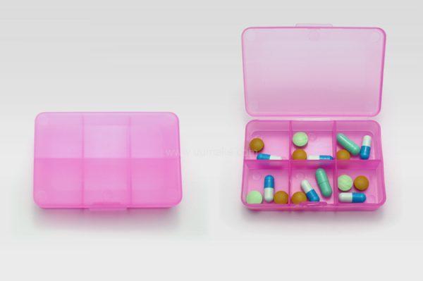 六格藥盒,藥物收納盒,旅行用品