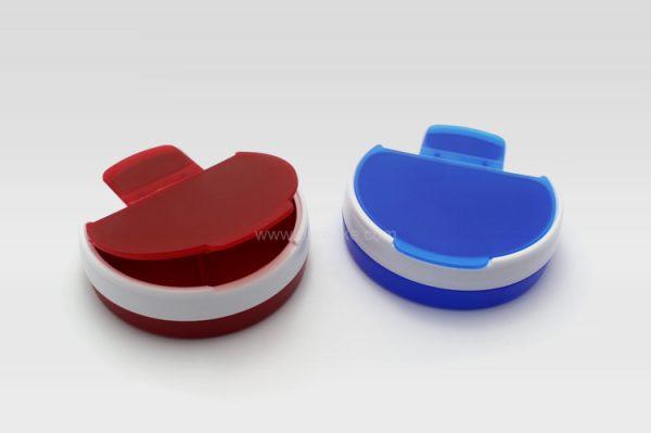 圓形翻蓋藥盒,藥物收納盒,個人護理