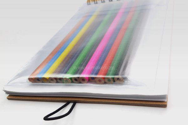 環保彩鉛簿,PU筆記簿,記事本,書寫,辦公文具