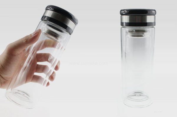 雙層玻璃泡茶杯