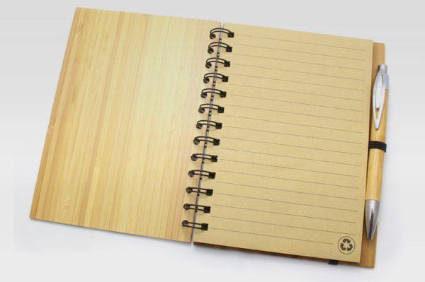 帶筆竹木筆記簿,記事本,辦公文具