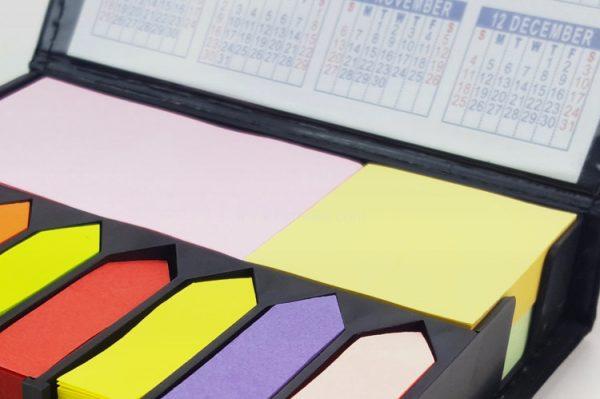 帶日曆PU便簽簿,即時貼,告示貼,記事貼
