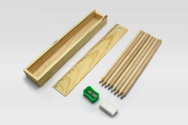 木盒蠟筆套裝,顏色筆組合,禮品筆,書寫文具