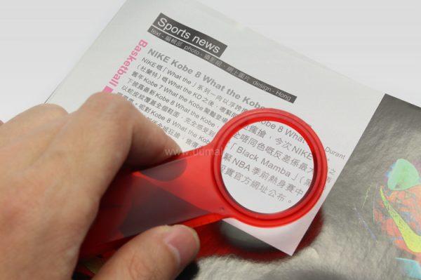 帶放大鏡直尺書簽,塑膠間尺,辦公文具