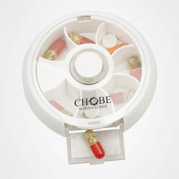 圓形旋轉藥盒,藥物收納盒,個人護理