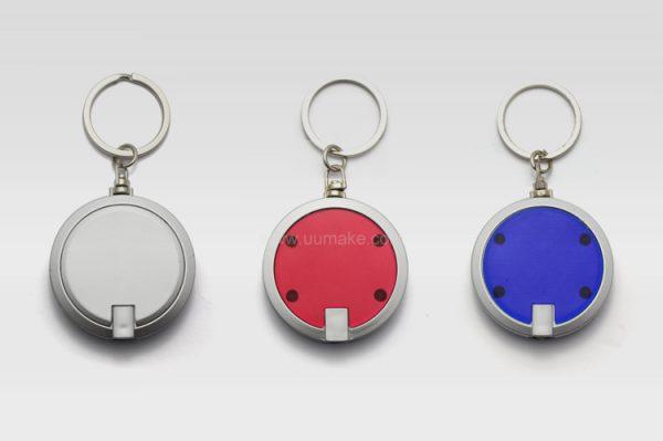 多功能瑣匙扣,廣告鑰匙扣,LED電筒,定制禮品,圓形鎖匙扣燈