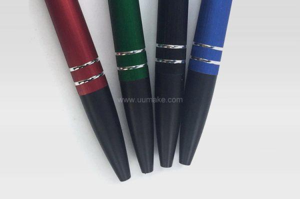 廣告原子筆,塑膠直桿走珠筆,禮品定制,金屬雙環圓珠筆