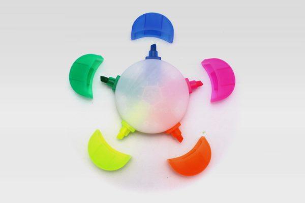 塑膠熒光筆,廣告異形水彩筆,定制禮品,五色花熒光筆