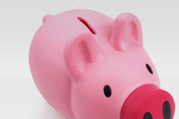 儲蓄罐,廣告散銀盒,塑膠散錢箱,硬蔽盒,豬形零錢存儲盒,禮品定制,豬型儲錢罐