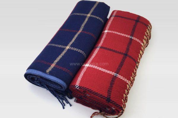 純色圍脖,保暖頸巾,個人服飾,禮品定制,格仔仿羊絨圍巾
