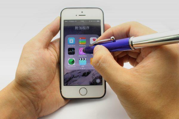金屬筆,廣告多功能原子筆,塑膠直桿走珠筆,禮品定制,LED觸控圓珠筆