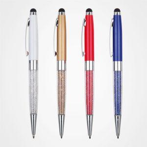 廣告金屬原子筆,手按直桿走珠筆,定制禮品,塑膠圓珠筆,鉆石觸控筆