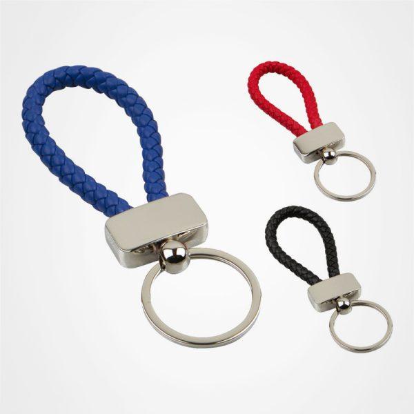 編織繩鑰匙扣,禮品定制,個人配件,編織帶金屬鎖匙扣