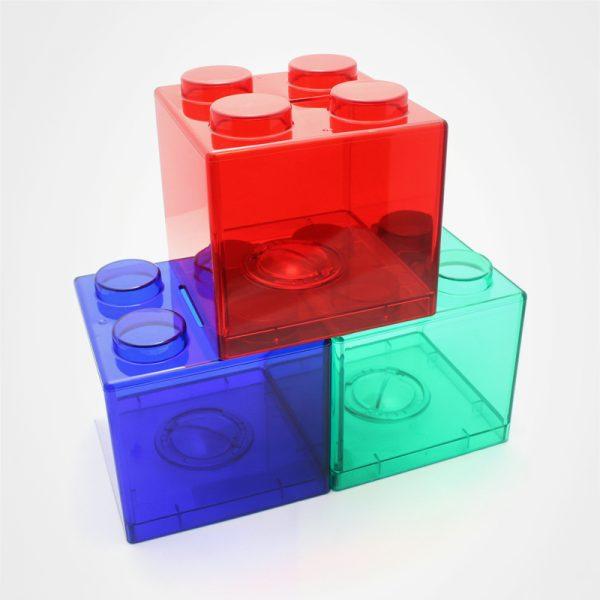 儲蓄罐,廣告散銀盒,塑膠散錢箱,零錢存儲盒,禮品定制,積木儲錢罐