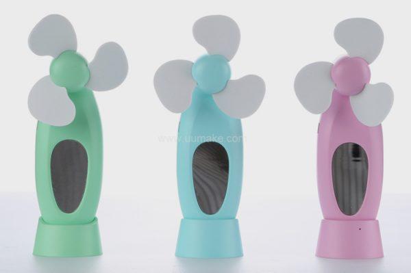 迷你風扇,電子風扇,小風扇,風扇,廣告禮品,促銷禮品,贈品,訂造,定做,批發,LED帶鏡風扇