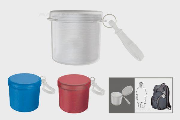 雨具,登山扣雨衣,圓柱形雨衣盒,戶外用品,廣告禮品,促銷禮品,贈品,訂造,定做,批發,收納式雨衣