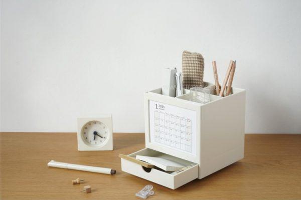 儲物盒,桌面擺件,臺歷,年曆,日曆,文具套裝,辦公文具,Desk-calendar,訂造,定做,批發,旋轉臺歷收納盒