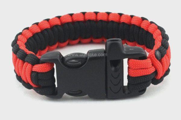 戶外野營逃生救生繩,手腕帶,口哨插扣傘繩,定制,定做,批發,活動贈品,Bracelet,編織求生手鏈